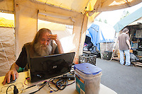 Tent City 3, Lantz Rowland, 58 (long hair) and Dwight Simeon, 51