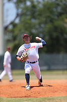Nolan Hudi (60) of Calvary Christian High School in Safety Harbor, Florida during the Under Armour Baseball Factory National Showcase, Florida, presented by Baseball Factory on June 13, 2018 the Joe DiMaggio Sports Complex in Clearwater, Florida.  (Nathan Ray/Four Seam Images)
