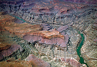 The deep and rugged canyons carved by the Colorado River and its tributaries. Northern Arizona.