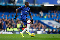 30th November 2019; Stamford Bridge, London, England; English Premier League Football, Chelsea versus West Ham United; Kurt Zouma of Chelsea   - Strictly Editorial Use Only. No use with unauthorized audio, video, data, fixture lists, club/league logos or 'live' services. Online in-match use limited to 120 images, no video emulation. No use in betting, games or single club/league/player publications