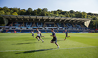 The Wycombe Post match Warm Down during the Sky Bet League 2 match between Wycombe Wanderers and York City at Adams Park, High Wycombe, England on 8 August 2015. Photo by Andy Rowland.