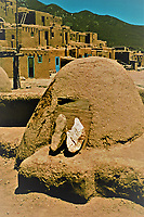 Traditional horno or bread oven, Taos Pueblo, New Mexico