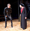 Richard III<br /> by William Shakespeare <br /> at Arcola Theatre, London, Great Britain <br /> Press photocall <br /> 12th May 2017 <br /> <br /> Greg Hicks as Richard <br /> <br /> <br /> <br /> Annie Firbank as Duchess of York <br /> <br /> <br /> <br /> Photograph by Elliott Franks <br /> Image licensed to Elliott Franks Photography Services