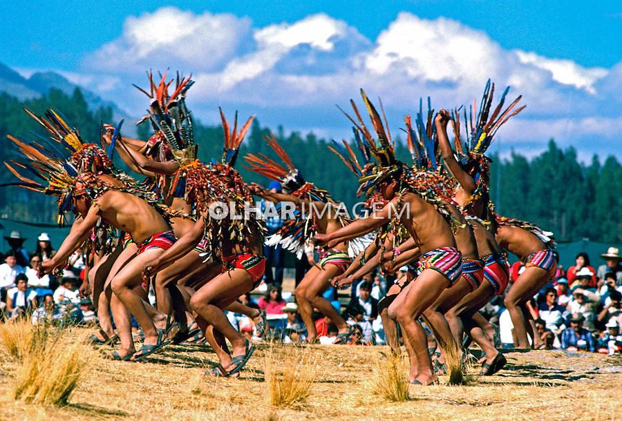 Festa do sol, Inti Raimi em Cuzco. Perú.  1994. Foto de Juca Martins