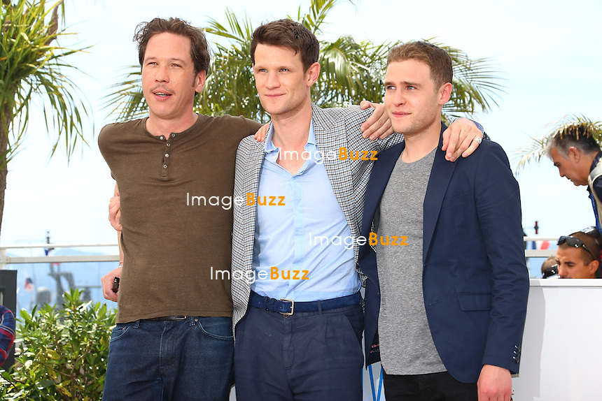 CPE/ Reda Kateb, Iain De Caestecker and Matt Smith attends the 'Lost River' photocall during the 67th Annual Cannes Film Festival on May 20, 2014 in Cannes, France