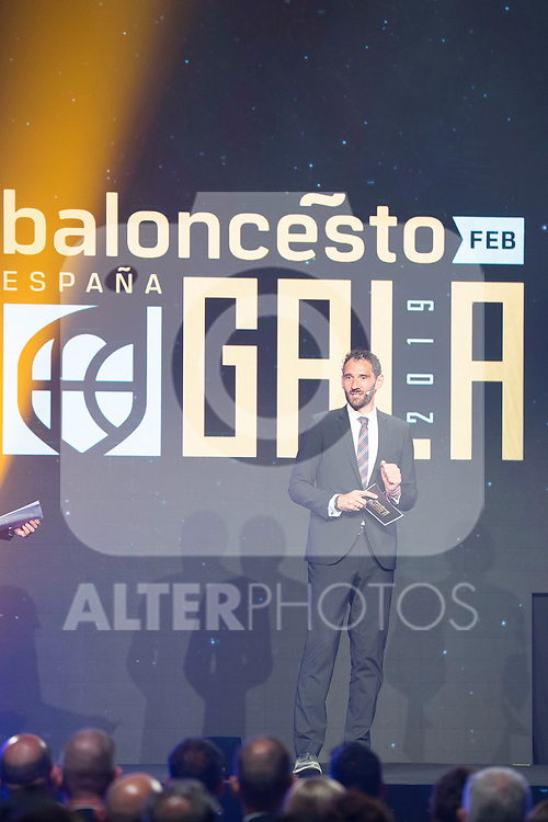 President of Spanish Federation of Basketball Jorge Garbajosa during the first edition of Spanish Basketball Awards. July 25, 2019. (ALTERPHOTOS/Francis Gonzalez)