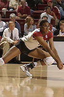 28 October 2005: Foluke Akinradewo during Stanford's 3-0 win over Oregon State in Stanford, CA.