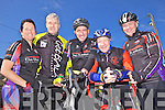 Attending the Kerry/Limerick charity cycle were cyclists Cora Carraig, Phelim Macken, John Scannell, Matt Quilter and John Sheehy pictured last Sunday morning in Athea.