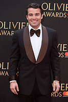 Joe McElderry arriving for the Olivier Awards 2018 at the Royal Albert Hall, London, UK. <br /> 08 April  2018<br /> Picture: Steve Vas/Featureflash/SilverHub 0208 004 5359 sales@silverhubmedia.com
