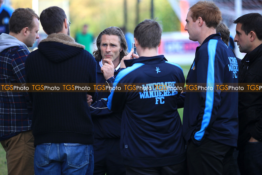 Wycombe's Gareth Ainsworth meets the press after the match  - Dagenham & Redbridge vs Wycombe Wanderers - NPower League Two Football at the London Borough of Barking & Dagenham Stadium - 29/09/12 - MANDATORY CREDIT: Paul Dennis/TGSPHOTO - Self billing applies where appropriate - 0845 094 6026 - contact@tgsphoto.co.uk - NO UNPAID USE.