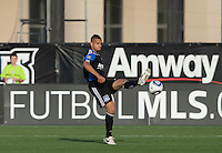 Jason Hernandez of Earthquakes in action during the game against the Crew at Buck Shaw Stadium in Santa Clara, California on June 2nd, 2010.  San Jose Earthquakes tied Columbus Crew, 2-2.