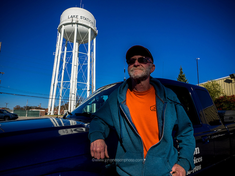 Harry Heath, 55, Water Department Supervisor, has been handling Lake Station's water system for about 30 years, and says he never needs a map -- he knows the city's 800 miles of water mains by heart.