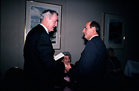 April 1988 File Photo - Paul Desmarais (L) and Charles Bronfman (R)<br /> <br /> Desmarais passed away October 2013<br />  - PHOTO D'ARCHIVE :  Agence Quebec Presse