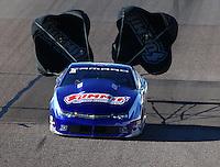 Feb 26, 2016; Chandler, AZ, USA; NHRA pro stock driver Jason Line during qualifying for the Carquest Nationals at Wild Horse Pass Motorsports Park. Mandatory Credit: Mark J. Rebilas-
