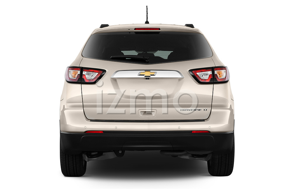 Straight rear view of a 2013 Chevrolet Traverse 1LT SUV