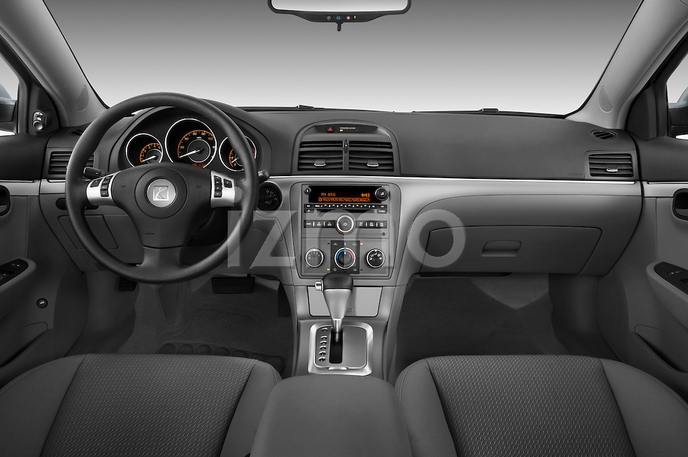 Straight dashboard view of a 2008 saturn acura.