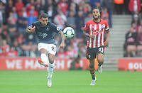 Burnley's Aaron Lennon under pressure from Southampton's Ryan Bertrand<br /> <br /> Photographer Kevin Barnes/CameraSport<br /> <br /> The Premier League - Southampton v Burnley - Sunday August 12th 2018 - St Mary's Stadium - Southampton<br /> <br /> World Copyright &copy; 2018 CameraSport. All rights reserved. 43 Linden Ave. Countesthorpe. Leicester. England. LE8 5PG - Tel: +44 (0) 116 277 4147 - admin@camerasport.com - www.camerasport.com