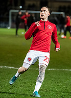 Fleetwood Town's Barrie McKay warming up before the match <br /> <br /> Photographer Andrew Kearns/CameraSport<br /> <br /> The EFL Sky Bet League One - Wycombe Wanderers v Fleetwood Town - Tuesday 11th February 2020 - Adams Park - Wycombe<br /> <br /> World Copyright © 2020 CameraSport. All rights reserved. 43 Linden Ave. Countesthorpe. Leicester. England. LE8 5PG - Tel: +44 (0) 116 277 4147 - admin@camerasport.com - www.camerasport.com