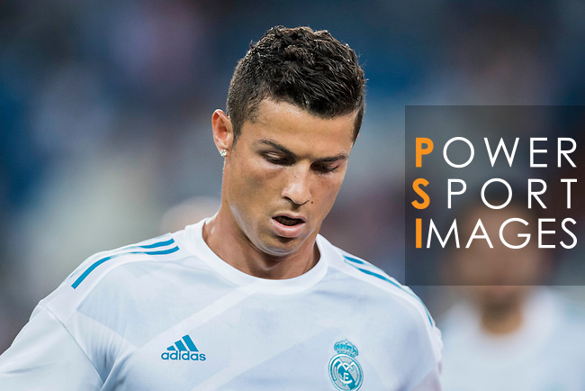 Cristiano Ronaldo of Real Madrid in training prior to the Santiago Bernabeu Trophy 2017 match between Real Madrid and ACF Fiorentina at the Santiago Bernabeu Stadium on 23 August 2017 in Madrid, Spain. Photo by Diego Gonzalez / Power Sport Images