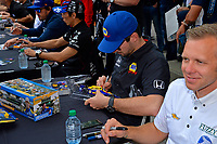 Verizon IndyCar Series<br /> Indianapolis 500 Drivers Meeting<br /> Indianapolis Motor Speedway, Indianapolis, IN USA<br /> Saturday 27 May 2017<br /> Driver's autograph session: Alexander Rossi, Andretti Herta Autosport with Curb-Agajanian Honda and Ed Carpenter, Ed Carpenter Racing Chevrolet<br /> World Copyright: F. Peirce Williams