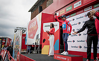 Nairo Quintana (COL/Movistar) is the newest red jersey (overall leader)<br /> <br /> Stage 9: Andorra la Vella to Cortals d'Encamp (94km) - ANDORRA<br /> La Vuelta 2019<br /> <br /> ©kramon