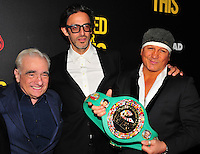 NEW YORK,NY November 014 : Martin Scorcese, Ben Younger, Vinny Paz attends as Open Road with Men's Fitness host the premiere of 'Bleed For This' at AMC Lincoln Square Theater on November 14, 2016 in New York City..@John Palmer / Media Punch