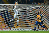 Wycombe Wanderers goalkeeper Matt Ingram collects a cross during the Sky Bet League 2 match between Mansfield Town and Wycombe Wanderers at the One Call Stadium, Mansfield, England on 31 October 2015. Photo by Garry Griffiths.