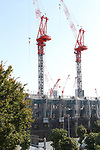 A view of the proposed site of National Stadium for the 2020 Tokyo Olympic and Paralympic Games is seen in Tokyo, Japan, on OCTOBER 26, 2017. (Photo by Hiroyuki Ozawa/AFLO)