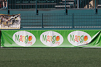 Rochester, NY - Friday May 27, 2016: Ad banner for Mango.org. The Western New York Flash defeated the Boston Breakers 4-0 during a regular season National Women's Soccer League (NWSL) match at Rochester Rhinos Stadium.