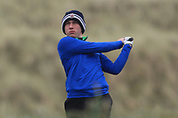 Nathaniel Bailie (Shandon Park) on the 13th tee during Round 2 of the Ulster Boys Championship at Portrush Golf Club, Portrush, Co. Antrim on the Valley course on Wednesday 31st Oct 2018.<br /> Picture:  Thos Caffrey / www.golffile.ie<br /> <br /> All photo usage must carry mandatory copyright credit (&copy; Golffile | Thos Caffrey)
