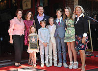 Chris O'Donnell &amp; wife Caroline Fentress &amp; children Maeve, Finley, Charles, Christopher &amp; Lily &amp; his mother Julie Ann (right) on Hollywood Boulevard where Chris O'Donnell was honored with the 2,544th star on the Walk of Fame.<br /> March 5, 2015  Los Angeles, CA<br /> Picture: Paul Smith / Featureflash