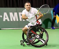 Februari 12, 2015, Netherlands, Rotterdam, Ahoy, ABN AMRO World Tennis Tournament, Stephane Houdet (FRA)<br /> Photo: Tennisimages/Henk Koster