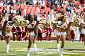 The Washington Redskins cheerleaders perform on the field prior to the Philadelphia Eagles against the Washington Redskins game at FedEx Field in Landover, Maryland on Sunday, September 10, 2017.  The Eagles won the game 30 - 17.<br /> Credit: Ron Sachs / CNP