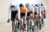 Stewart Campbell of West Coast North Island and Luke Mudgway of East Coast North Island lead out front in the  Elite Men Omnium 1, Scratch race 10km at the Age Group Track National Championships, Avantidrome, Home of Cycling, Cambridge, New Zealand, Saturday, March 18, 2017. Mandatory Credit: © Dianne Manson/CyclingNZ  **NO ARCHIVING**