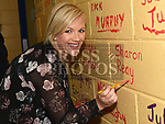 Sharon Reay signs her name on the wall of St. John's school Rathmullan at the open day for past pupils. Photo:Colin Bell/pressphotos.ie