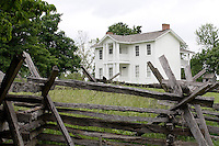 The Colonel's House at Missouri Town 1855 is a typical southern planters home. This old Missouri town is located on the east side of Lake Jacomo in Fleming Park in Blue Springs, MO. Missouri Town 1855 is a collection of original mid-19th century structures that were relocated from several Missouri counties to represent a typical 1850's farming community.