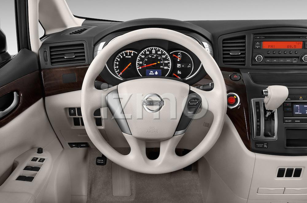 Car pictures of steering wheel view of a 2015 Nissan Quest s 5 Door Mini Van