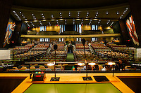 NEW YORK, USA - SEPT 14, View of the General Assembly Hall form podium at the United Nations Headquarters during preparations for the 71st General Assembly in New York on September 14, 2016. photo by VIEWpress