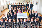 Pupils and Teachers at Fybough National School in Castlemaine have rasied funds for Michelle O'Shea who will travel to Africa this year as part of the Niall Mellon Township Trust.