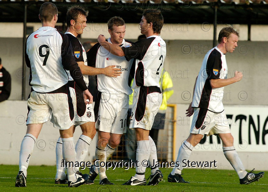 21/10/2006       Copyright Pic: James Stewart.File Name :sct_jspa18_gretna_v_clyde.COLIN MCMENAMIN IS CONGRATULATED AFTER HE SCORED GRETNA'S SECOND ...Payments to :.James Stewart Photo Agency 19 Carronlea Drive, Falkirk. FK2 8DN      Vat Reg No. 607 6932 25.Office     : +44 (0)1324 570906     .Mobile   : +44 (0)7721 416997.Fax         : +44 (0)1324 570906.E-mail  :  jim@jspa.co.uk.If you require further information then contact Jim Stewart on any of the numbers above.........