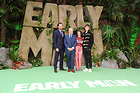 Tom Hiddlestone, director, Nick Park, Maisie Williams &amp; Eddie Redmayne at the &quot;Early Man&quot; world premiere at the IMAX, South Bank, London, UK. <br /> 14 January  2018<br /> Picture: Steve Vas/Featureflash/SilverHub 0208 004 5359 sales@silverhubmedia.com