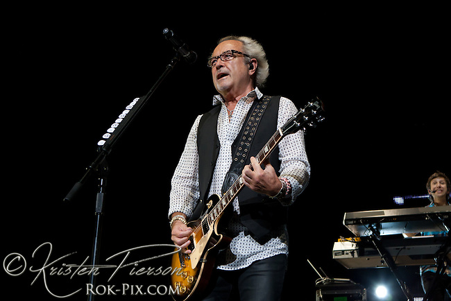 Foreigner perform at Comcast Center in Mansfield, Massachusetts, on August 12, 2011