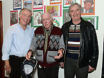Val Clarke celebrating his 70th birthday in McHugh's with wife Brothers Eoin and Maurice. Photo:Colin Bell/pressphotos.ie