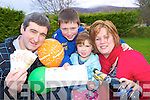 Martin Brosnan Upper Coolies Killarney celebrates winning EUR146,300 in Winning Streak with his wife Sharon and children Adam and Lucy on Tuesday