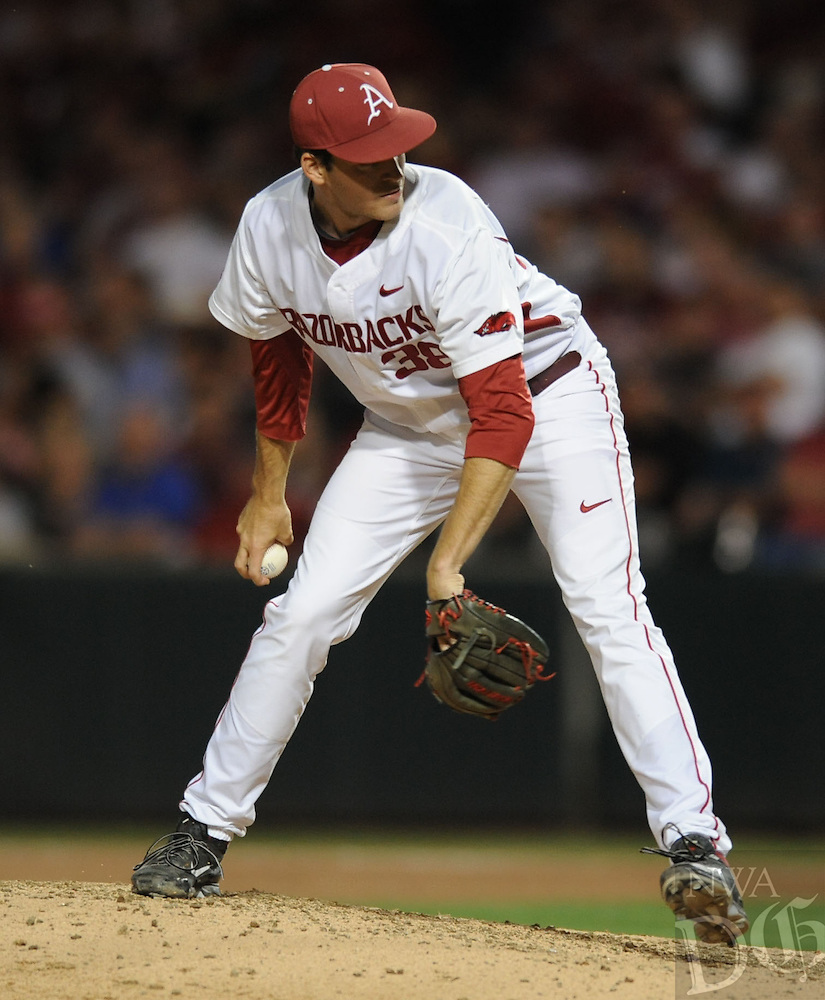 NWA Democrat-Gazette/ANDY SHUPE - Arkansas and Mississippi State Saturday, April 25, 2015, at Baum Stadium in Fayetteville. Visit nwadg.com/photos to see more photographs from the game.