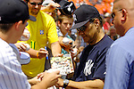17 June 2006: Joe Torre, manager of the New York Yankees, signs autographs prior to a game against the Washington Nationals at RFK Stadium, in Washington, DC. The Nationals overcame a seven run deficit to win 11-9 in the second game of the interleague series...Mandatory Photo Credit: Ed Wolfstein Photo...