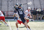 College Park, MD - March 18, 2017: Villanova Wildcats Christian Cuccinello (30) scores a goal during game between Villanova and Maryland at  Capital One Field at Maryland Stadium in College Park, MD.  (Photo by Elliott Brown/Media Images International)