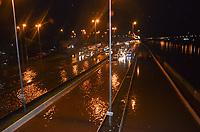 SÃO PAULO,SP, 01.12.2018 - ENCHENTE-SP - Enchente na Marginal Tiête na região norte de São Paulo na madrugada deste sábado, 01. (Foto: Eduardo Martins/Brazil Photo Press)