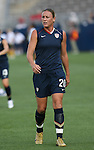 14 July 2007: United States' Abby Wambach. The United States Women's National Team defeated their counterparts from Norway 1-0 at Rentschler Stadium in East Hartford, Connecticut in a women's international friendly soccer game.