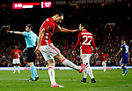Zlatan Ibrahimovic of Manchester United kicks the ground in frustration during the UEFA Europa League Quarter Final 2nd Leg match at Old Trafford, Manchester. Picture date: April 20th, 2017. Pic credit should read: Matt McNulty/Sportimage